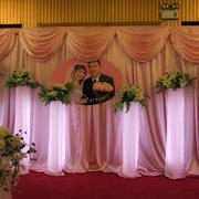 现代简约粉色系婚礼现场设计