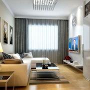 灰色系客厅窗帘装饰