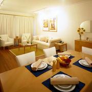 日式室内餐桌效果图