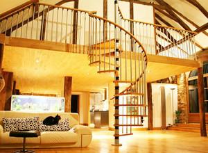 大户型家庭精装楼梯扶手装修效果图案例鉴赏
