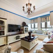 美式客厅简约吊顶设计