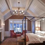 斜顶卧室天花板吊顶