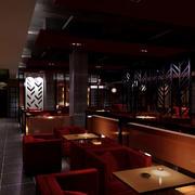 深色系咖啡厅设计