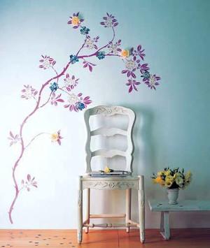 充满智慧结晶的墙体彩绘装修效果图片