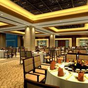 大型时尚饭店圆桌设计