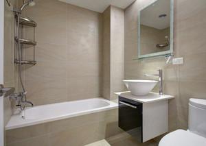 全新浅色带有卫浴设计的欧式风格卫生间装修效果图