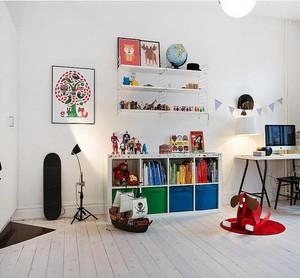 明媚阳光白色调10平米儿童房间装修设计效果图