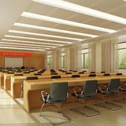会议室原木桌设计