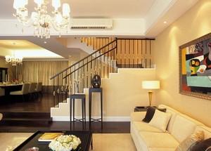 大户型简欧风格复式楼客厅装修效果图