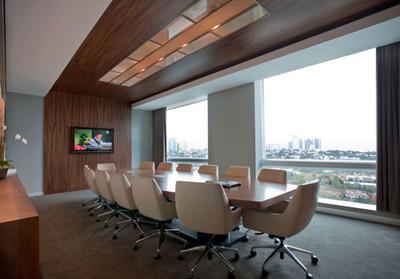、气派的现代自动办公大型会议室装修效果图