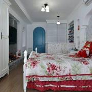 田园风格卧室整体橱柜设计