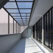 长廊雨棚设计