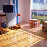 客厅原木地板装修