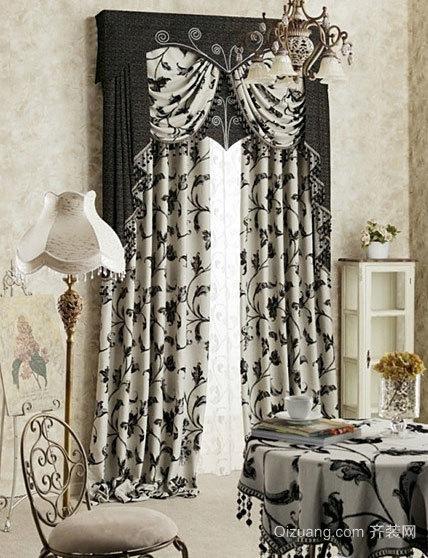 漂亮大方的豪华客厅窗帘装修效果图