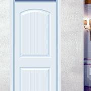 白色简约套装门