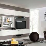 电视书柜一体化设计