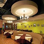 咖啡厅圆形吊顶装修