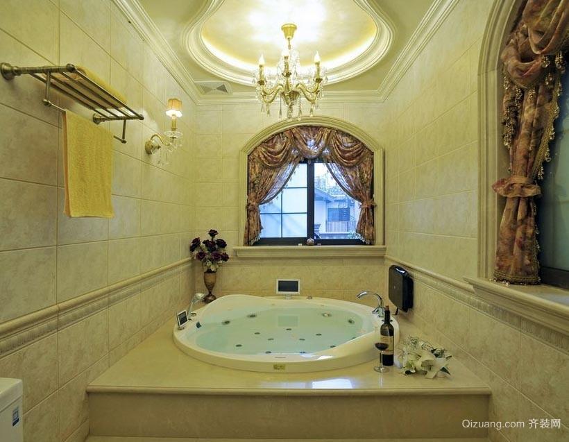 洗去烦恼疲劳的家居卫生间按摩浴缸装修效果图