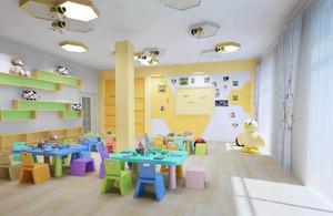幼儿园室内吊饰设计布置效果图