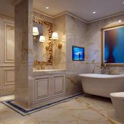 简约白色卫生间浴缸设计