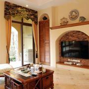 客厅原木茶几设计