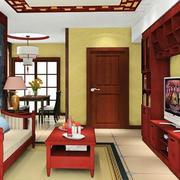 中式原木电视柜设计