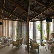 咖啡厅原木吊顶