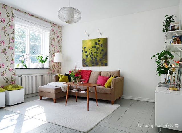 50平米北欧风格春天花房式小公寓装修效果图
