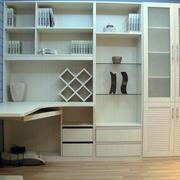简约整体书柜设计