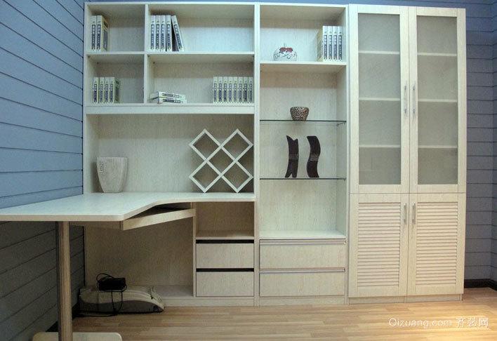 118平米开放式书房大气书柜效果图