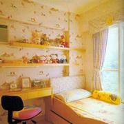 暖色系儿童房装修