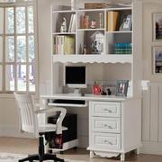白色整体书柜