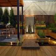 原木材料露台设计