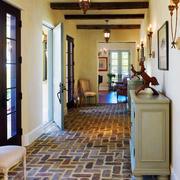 美式原木走廊装修
