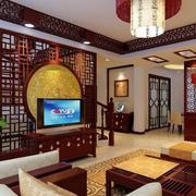 中式客厅拱形门设计