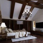 美式阁楼卧室效果图