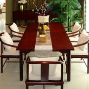 中式原木简约桌椅设计