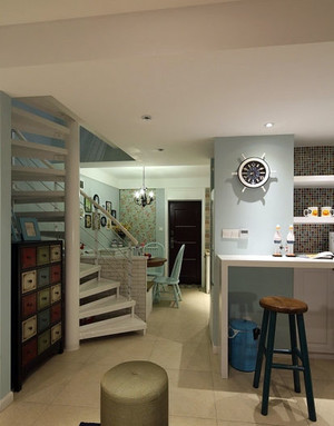 海风时尚:地中海风格复式楼公寓装修效果图