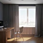 公寓书房飘窗装修