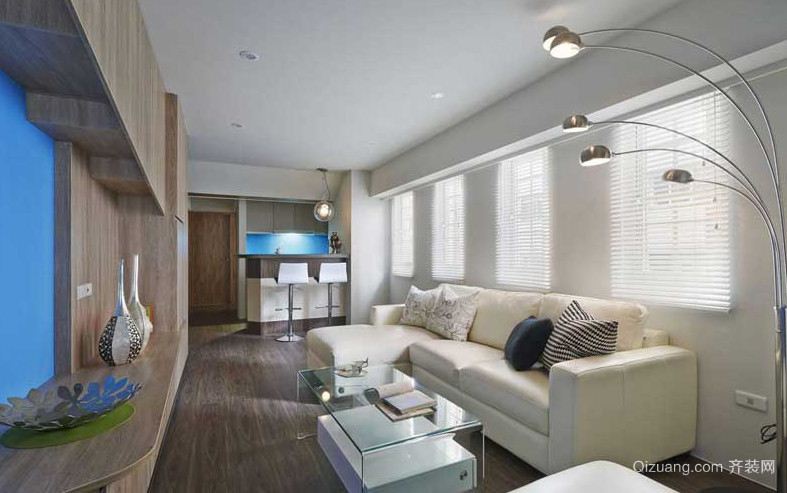 2015全新简约型客厅休闲沙发装饰效果图