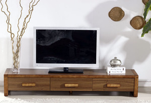 120平米现代简约风格客厅中式实木电视柜装修效果图
