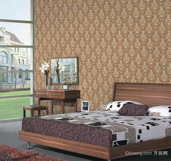 朴素典雅 中式卧室壁纸装修效果图一览
