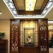 中式门厅吊顶设计