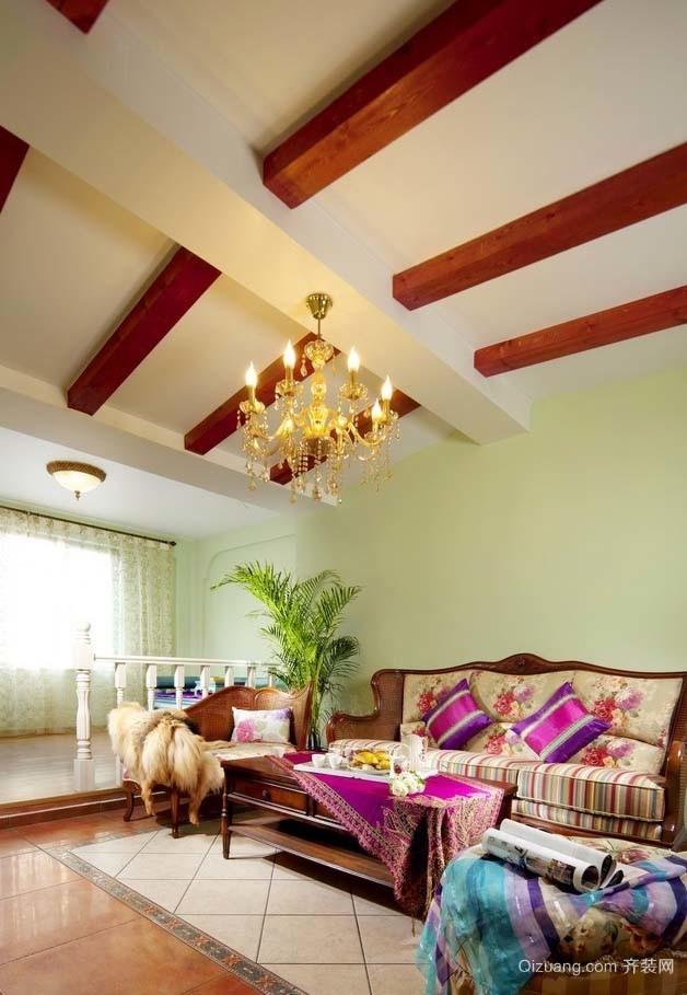 奇奇怪怪风:100平米东南亚风格房屋装修效果图