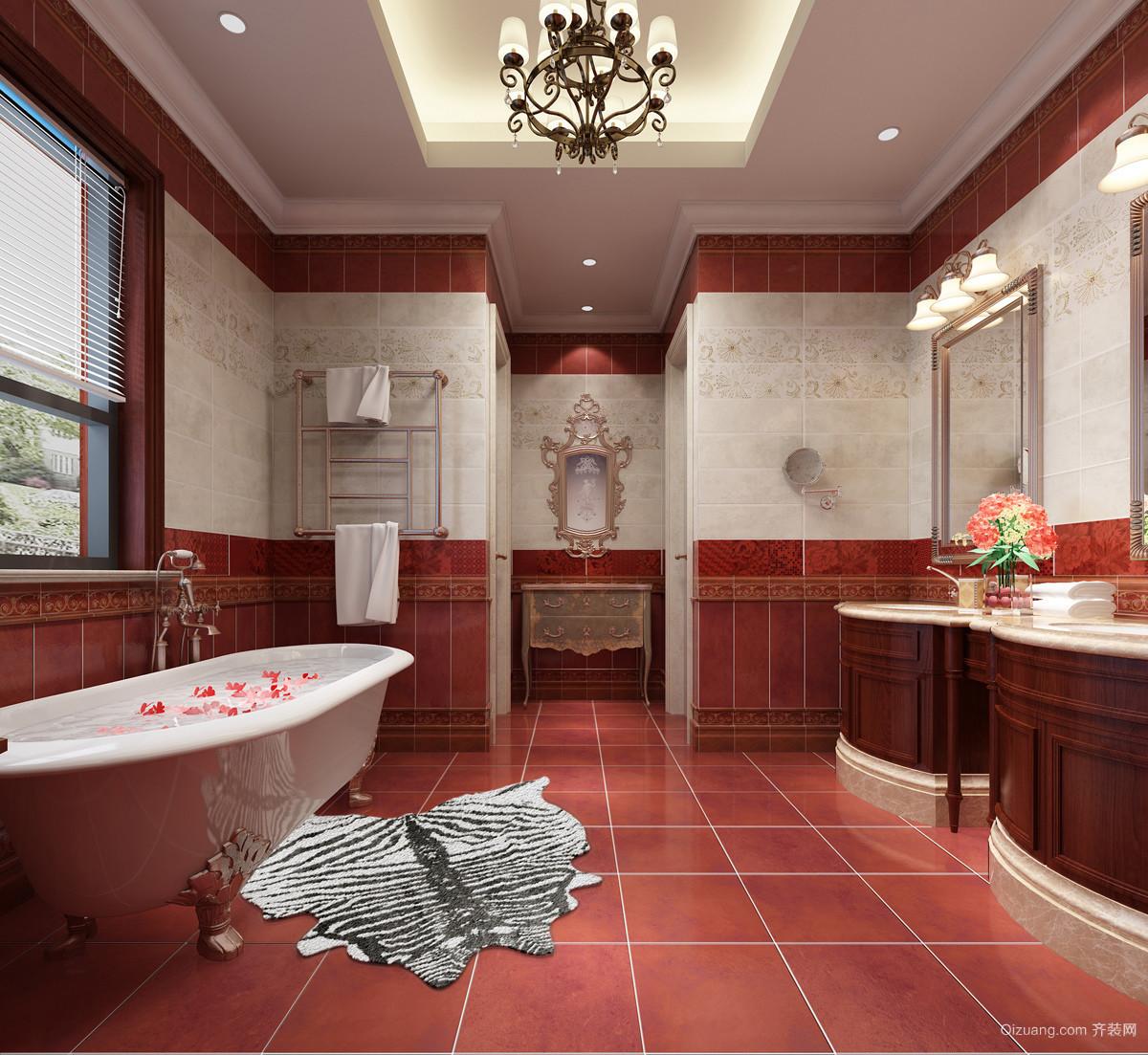 高品质家居选择:整体欧式卫生间装修效果图展示