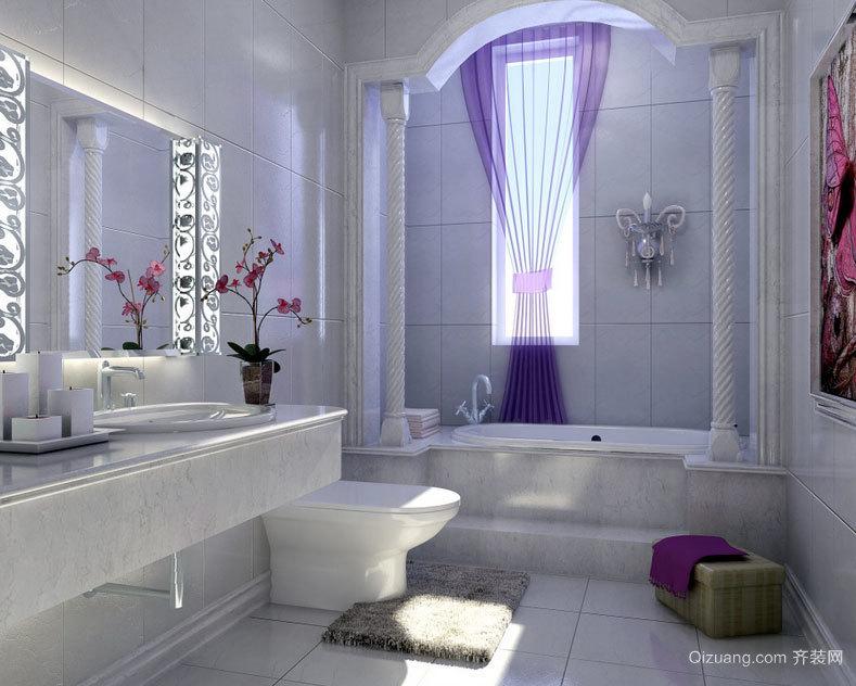 看着就舒服的欧式小卫生间装修效果图案例欣赏
