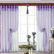 紫色公主系窗帘装修
