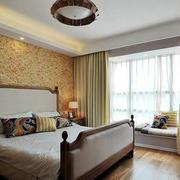 田园风格卧室背景墙设计