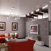 现代简约风格电视背景墙设计
