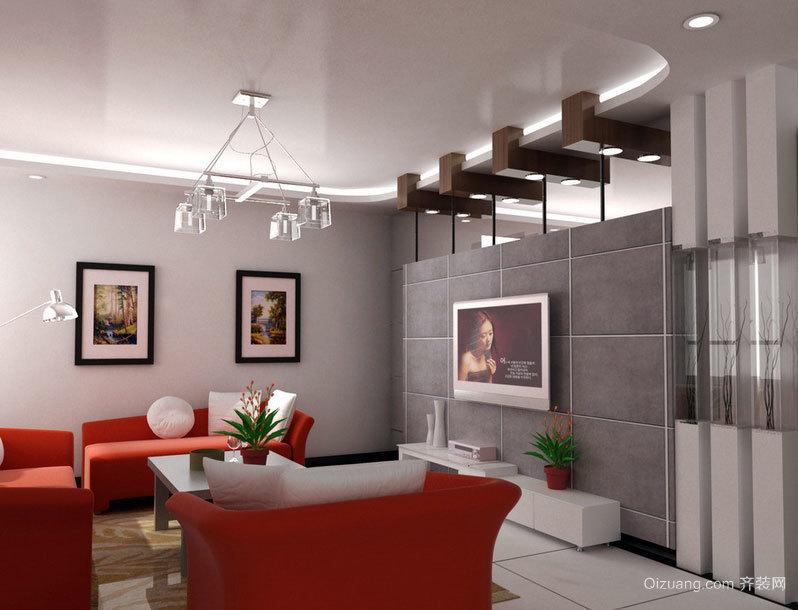美好的感觉无处不在:大户型客厅电视背景墙效果图鉴赏